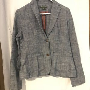 Eddie Bauer Women's Stretch Cotton Blazer Size 8